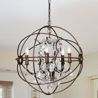 Warehouse of Tiffany Planetshaker 22 Inch 5-Light Crystal Orb Chanderlier|https://ak1.ostkcdn.com/images/products/9371094/P16562285.jpg?impolicy=medium
