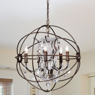 Awesome Warehouse Of Tiffany Planetshaker 22 Inch 5 Light Crystal Orb Chanderlier