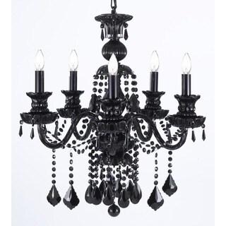 Gallery Royal Black Crystal 5-light Chandelier