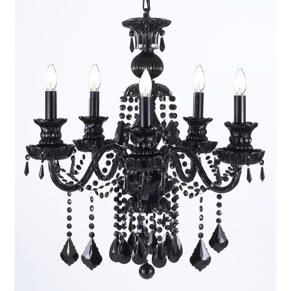 Gallery Royal Black Crystal 5 light Chandelier Free