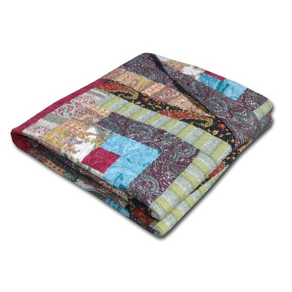 Greenland Home Fashions Colorado Cabin Quilted Cotton Throw Blanket