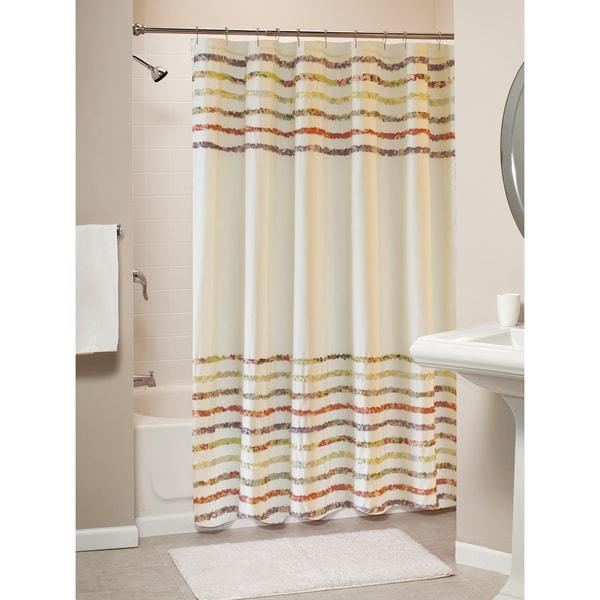 Shop Greenland Home Fashions Bella Shabby Chic Ruffled Shower Curtain
