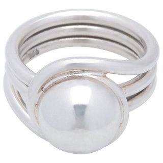 Kele & Co's Swirl around the Dome Ring made in .925 Sterling Silver