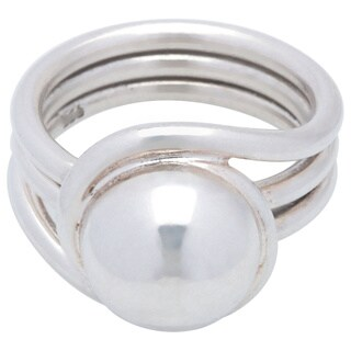 Kele & Co's Swirl around the Dome Ring made in .925 Sterling Silver (5 options available)