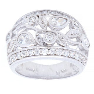 Kele & Co Beautiful In The Garden CZ Ring made of .925 Sterling Silver