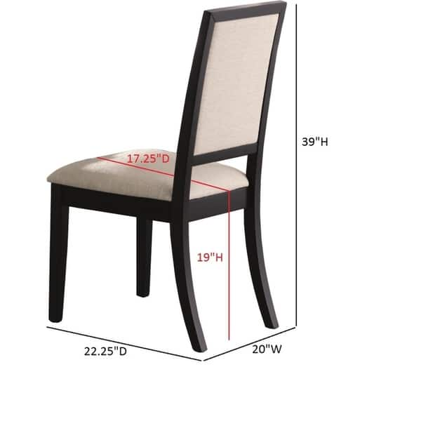 Upholstered Dining Side Chairs Black