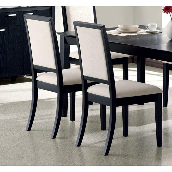 "Coaster Company Louise Black/ Cream Dining Chair (Set of 2) - 20"" x 22.25"" x 39"""