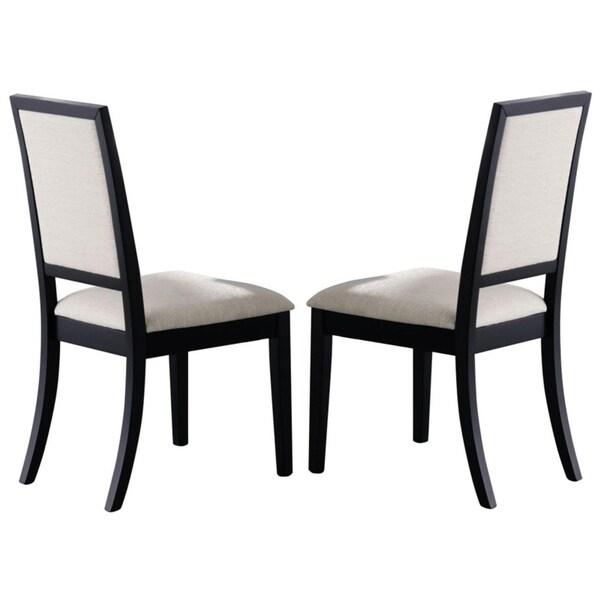 Shop Coaster Company Louise Black/ Cream Dining Chair (Set