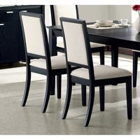 Coaster Company Louise Black/ Cream Dining Chair (Set of 2)