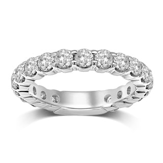 Unending Love 14k White Gold 2ct TDW Certified Diamond Eternity Band (G-I, I1-I2)