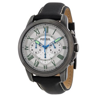 Fossil Men's FS4921 Grant Chronograph Leather Watch
