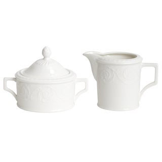 Red Vanilla Riviera Creamer and Sugar Bowl Set