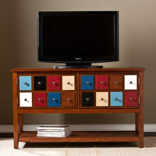 Harper Blvd Primrose Multicolor and Brown Mahogany Apothecary Console and TV Stand