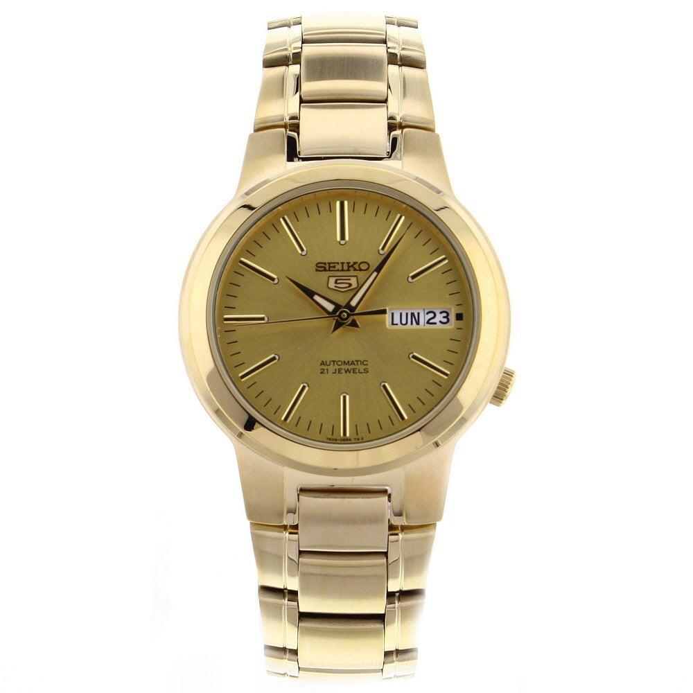 Seiko Men's SNKA10 Classic Goldtone Stainless Steel Watch...