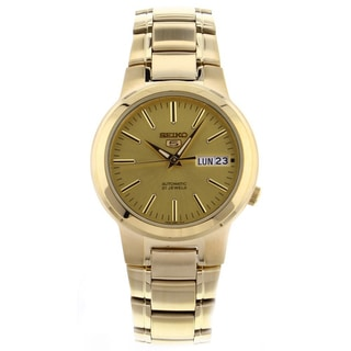 Seiko Men's SNKA10 Classic Goldtone Stainless Steel Watch