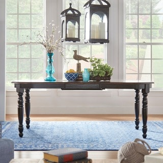 TRIBECCA HOME Mackenzie Country Antique Two-tone Dining Table