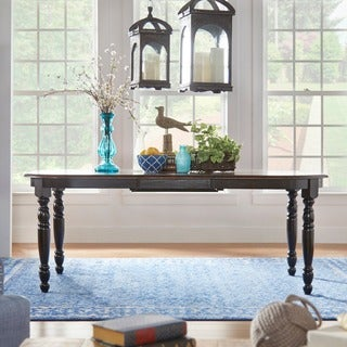 Mackenzie Country Antique Two-tone Dining Table by iNSPIRE Q Classic