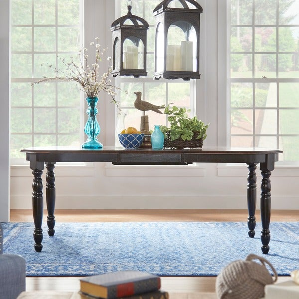 Mackenzie Country Antique Two Tone Dining Table By Inspire Q Clic