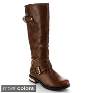 Nature Breeze Women's 'Goldcoast-01' Ankle Buckle Knee-high Boots
