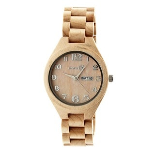 Earth Men's Sapwood Brown Wood Khaki/ Tan Analog Watch
