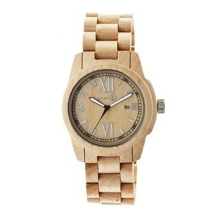 Earth Men's Heartwood Brown Wood Khaki/ Tan Analog Watch
