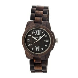 Earth Men's Heartwood Brown Wood Dark Brown Analog Watch