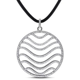 Miadora Sterling Silver Cubic Zirconia Circle Necklace