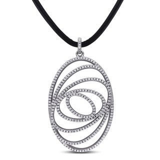 Miadora Sterling Silver Cubic Zirconia Necklace