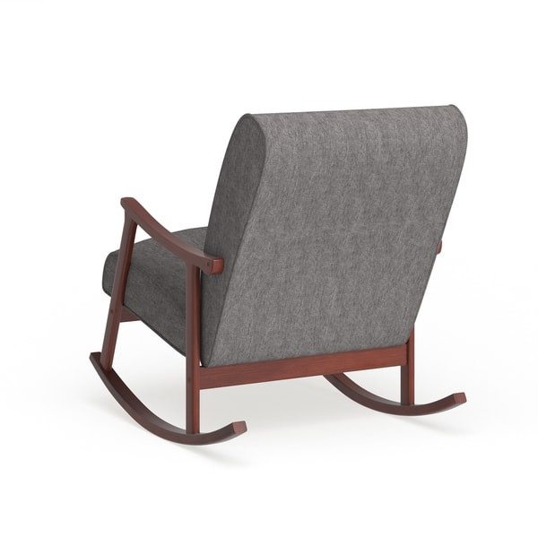 Marvelous Shop Carson Carrington Granite Grey Fabric Mid Century Alphanode Cool Chair Designs And Ideas Alphanodeonline