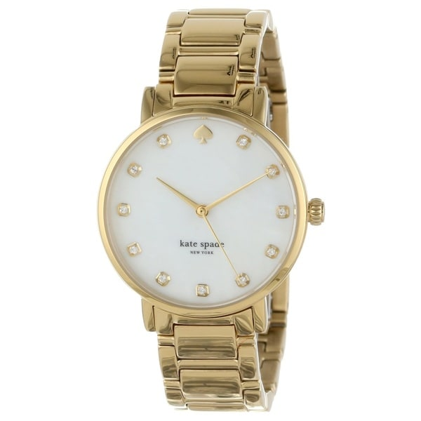 kate spade New York Women's 1YRU0007 Crystal Marker Gramercy Goldtone Watch
