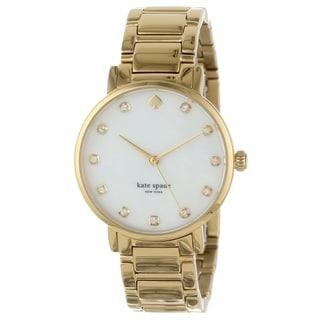 kate spade New York Women's 1YRU0007 Crystal Marker Gramercy Goldtone Watch