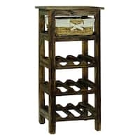 Monet Brown Wine Rack