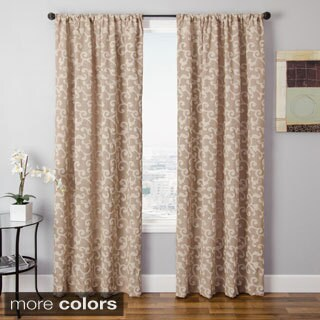 Softline Solomon Faux Linen Embroidered Curtain Panel