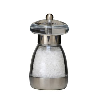 6-inch Acrylic Salt Mill with Stainless Steel Base