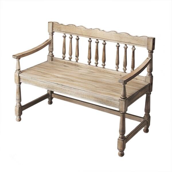 Driftwood Balustrade Bench