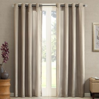 Madison Park Marin Solid Striped Curtain Panel