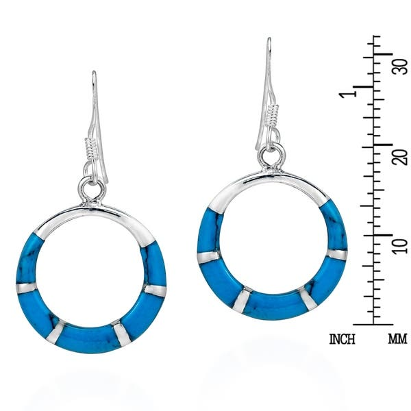 Triple circle post earrings-sterling silver