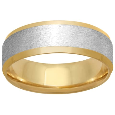 14K Two-Tone Gold Men's Comfort-Fit Wedding Band