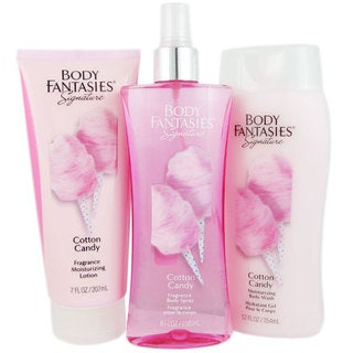 Body Fantasies Cotton Candy Women's 3-piece Fragrance Set