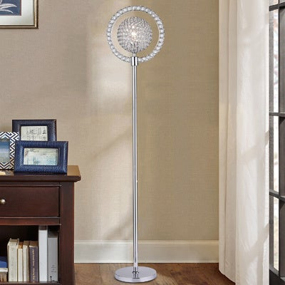 Crystal Disco-style Ball Floor Lamp