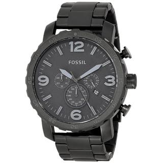 Fossil Men's JR1401 Nate Black Stainless Steel Watch|https://ak1.ostkcdn.com/images/products/9371653/P16562748.jpg?impolicy=medium