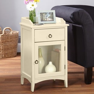 Simple Living Talia White Accent Table