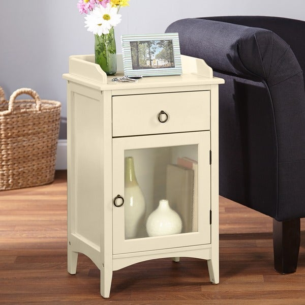 Shop Simple Living Talia White Accent Table Free