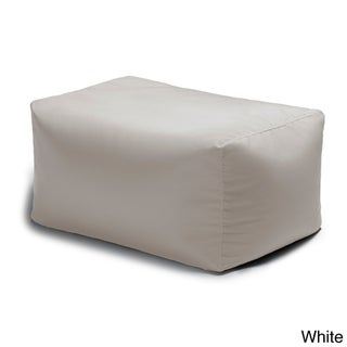 Leon Indoor/ Outdoor Acrylic Bean Bag Ottoman (More options available)