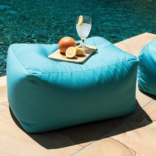 Leon Indoor/ Outdoor Acrylic Bean Bag Ottoman
