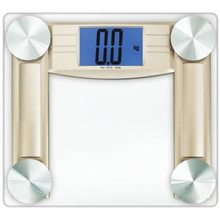"Cook N Home Digital Body Weight Bathroom Scale With Measuring Tape, Tempered Glass - 7'6"" x 9'6"""