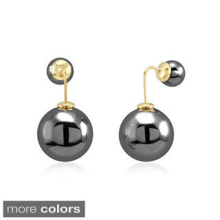 Double Hanging Ball Stud Earrings