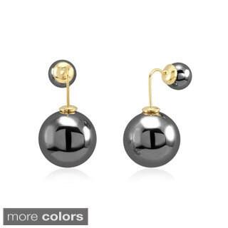 Double Hanging Ball Stud Earrings
