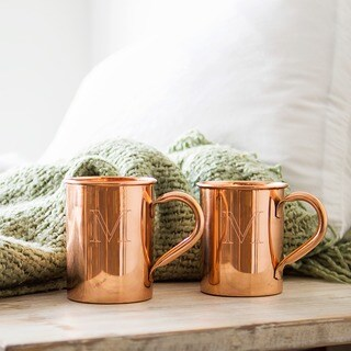 Personalized Moscow Mule Copper Mug with Polishing Cloth (More options available)
