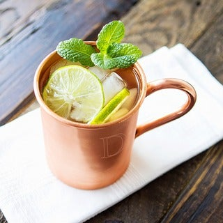 Personalized Moscow Mule Copper Mug with Polishing Cloth